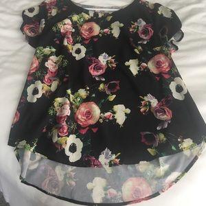 Merona Flower-Print Polyester Blouse